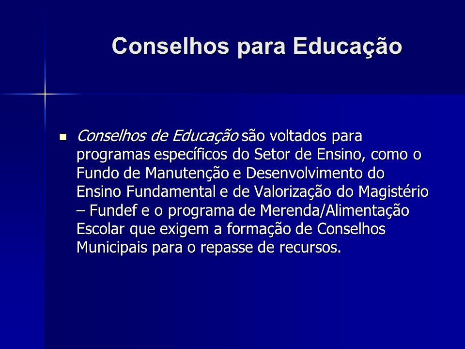Conselhos para Educação
