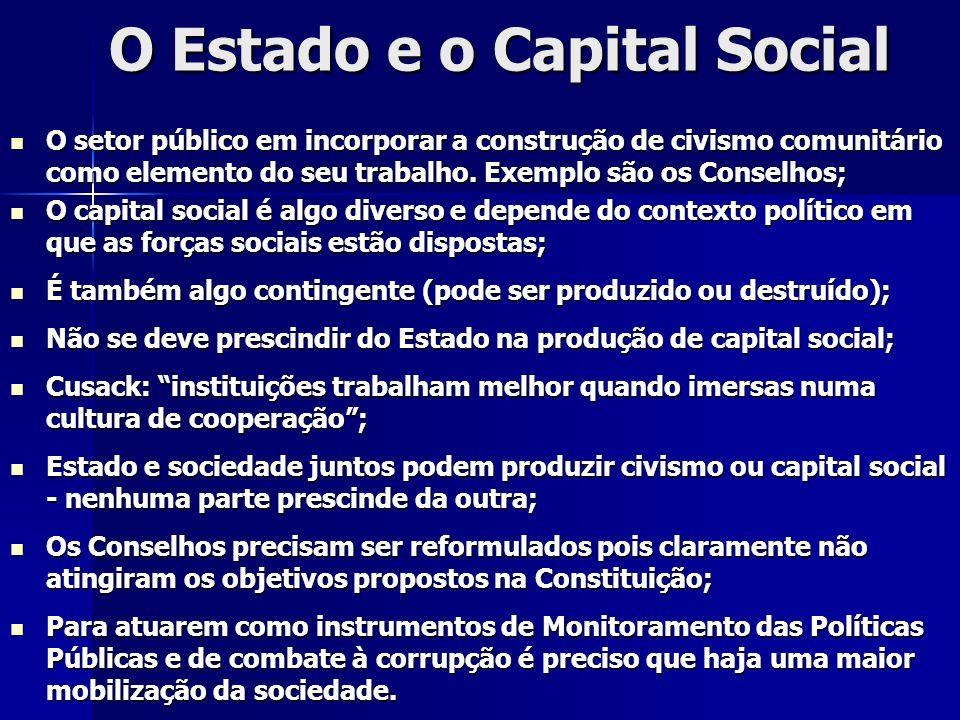 O Estado e o Capital Social