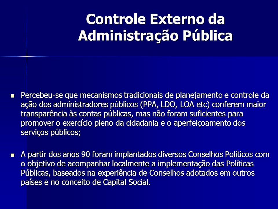 Controle Externo da Administração Pública