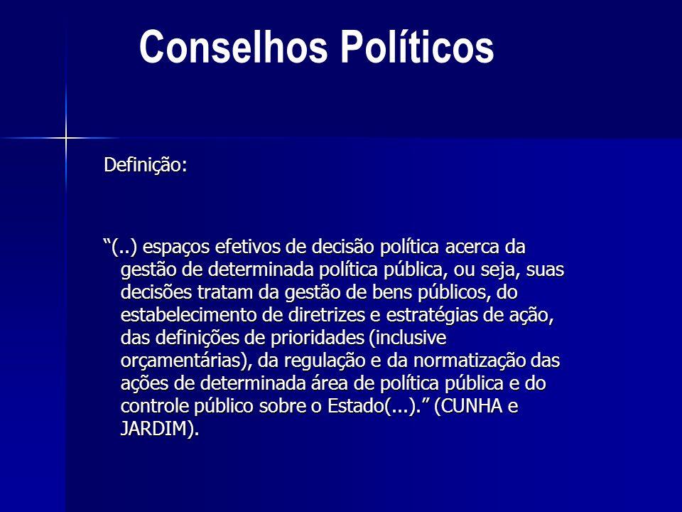 Conselhos Políticos Definição: