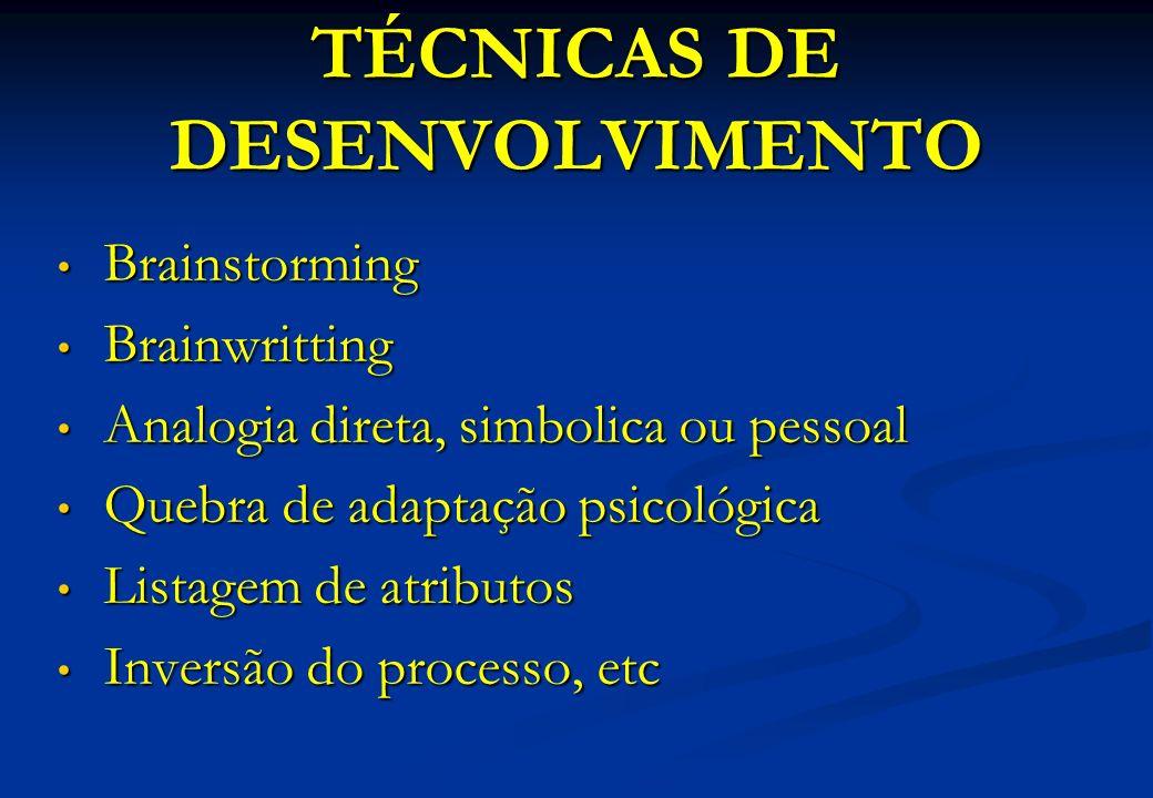 TÉCNICAS DE DESENVOLVIMENTO