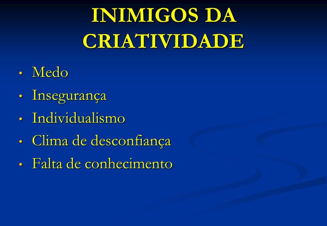 INIMIGOS DA CRIATIVIDADE