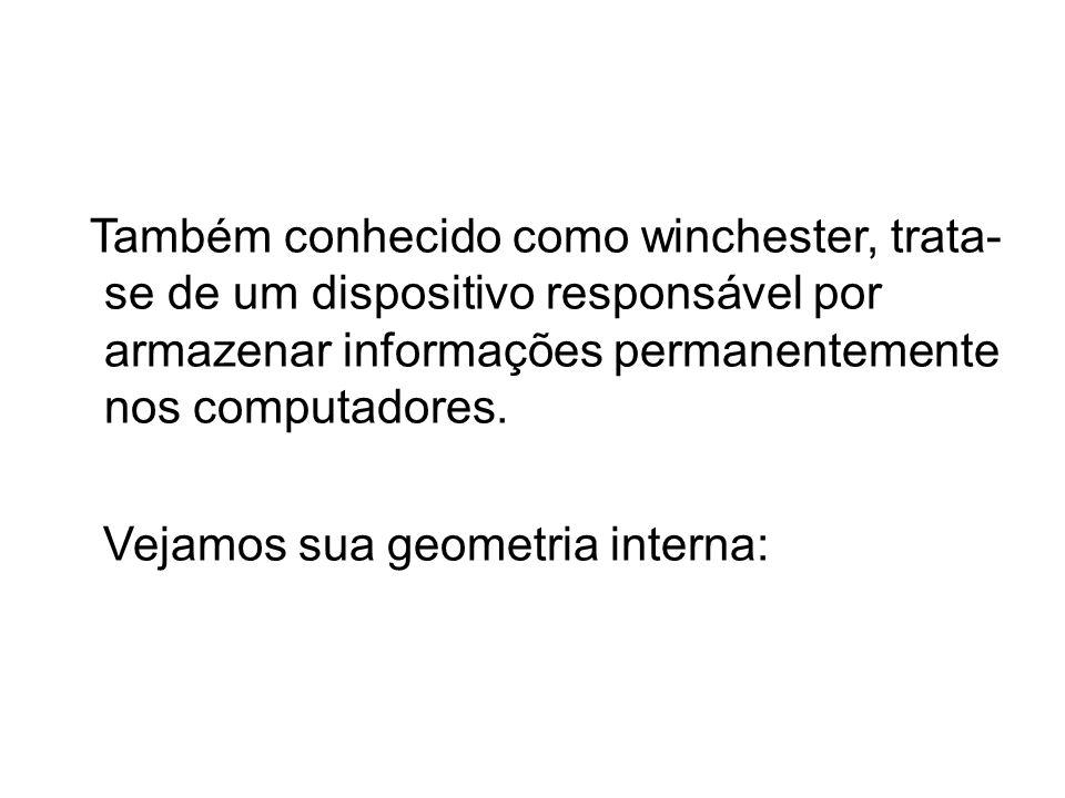 Também conhecido como winchester, trata- se de um dispositivo responsável por armazenar informações permanentemente nos computadores.