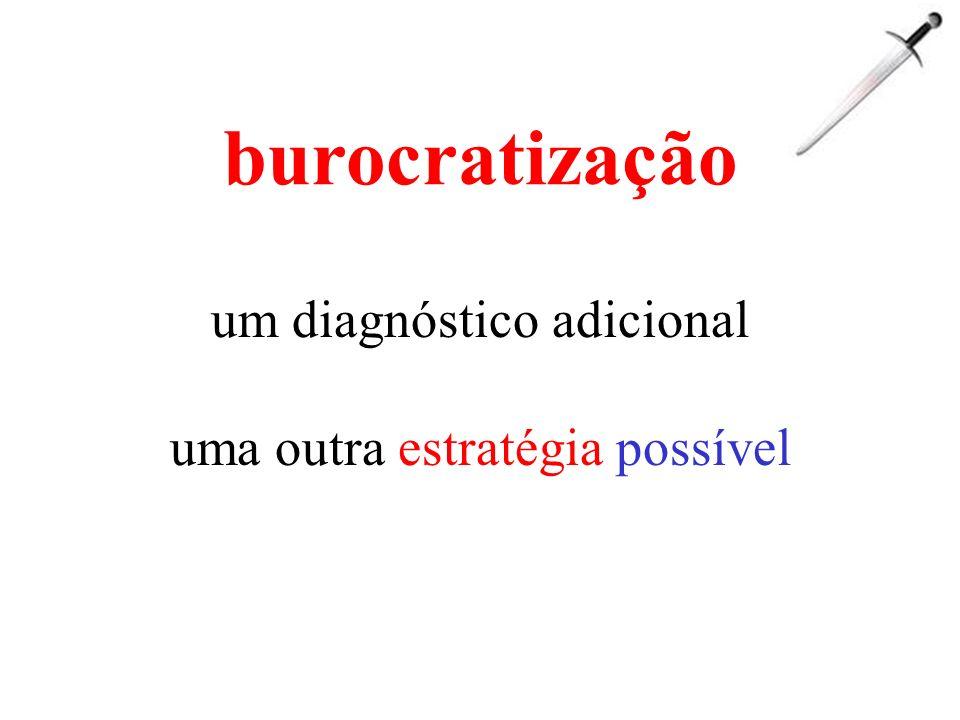 burocratização um diagnóstico adicional uma outra estratégia possível