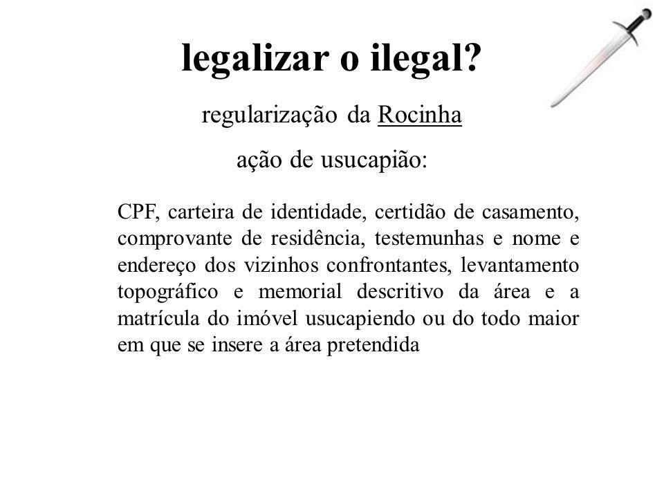regularização da Rocinha