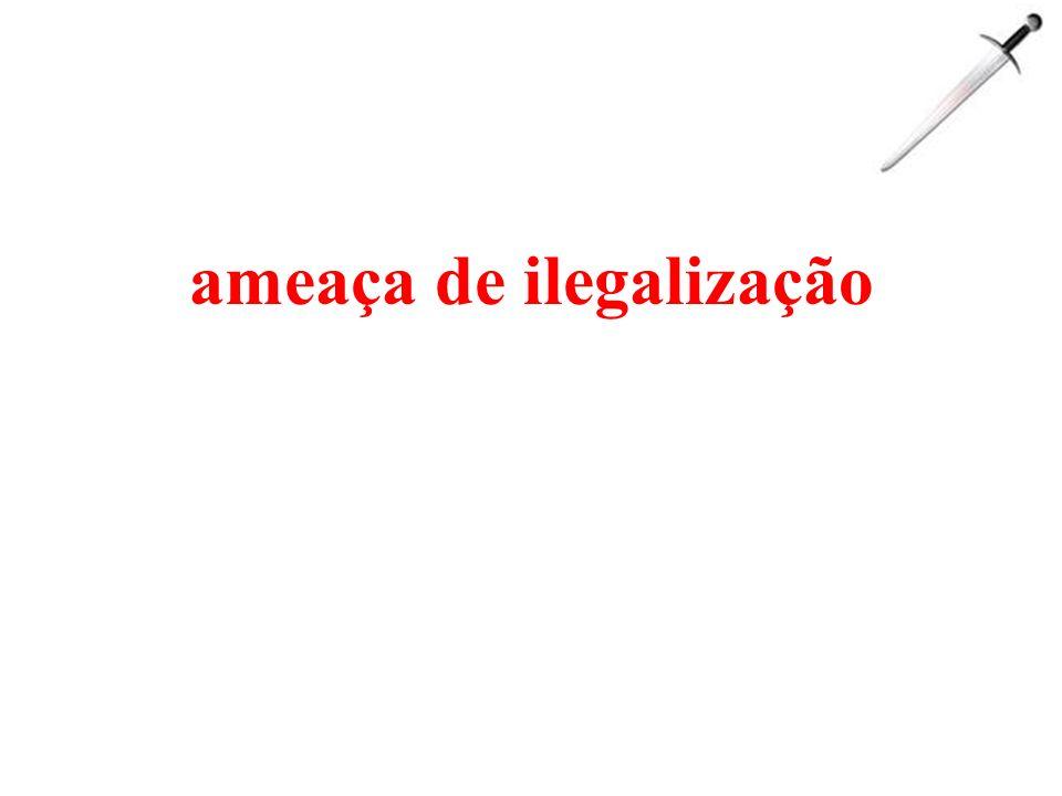 ameaça de ilegalização