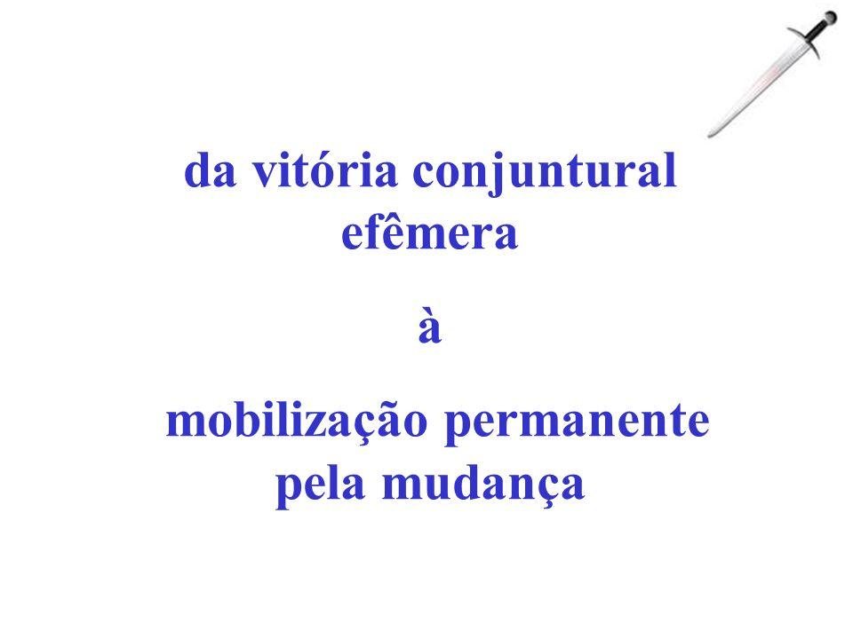 da vitória conjuntural efêmera mobilização permanente pela mudança