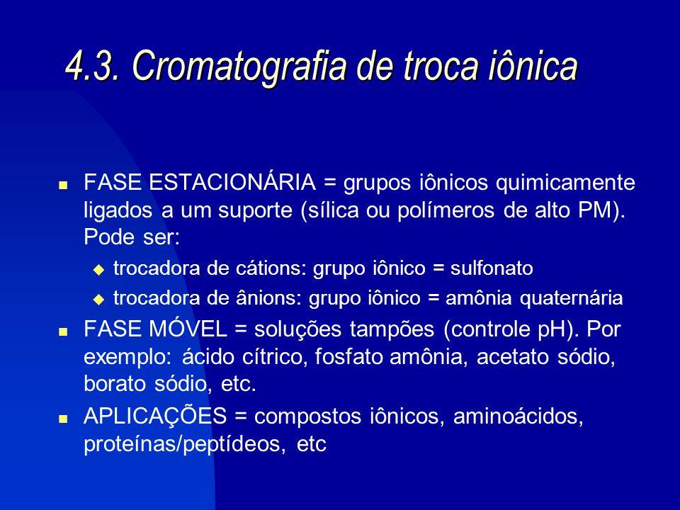 4.3. Cromatografia de troca iônica