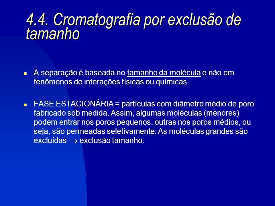 4.4. Cromatografia por exclusão de tamanho