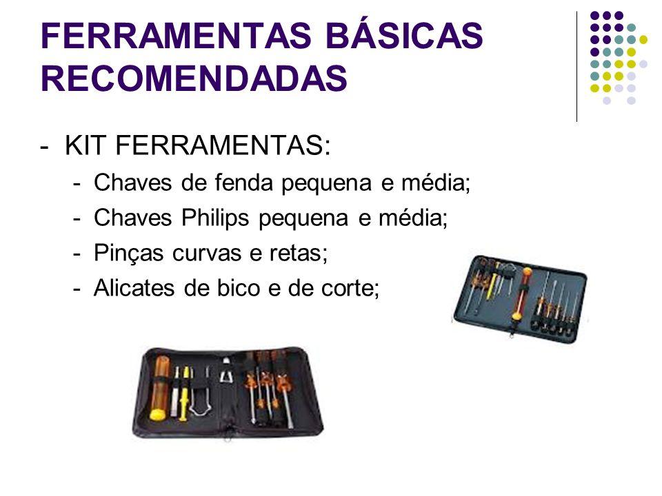 FERRAMENTAS BÁSICAS RECOMENDADAS