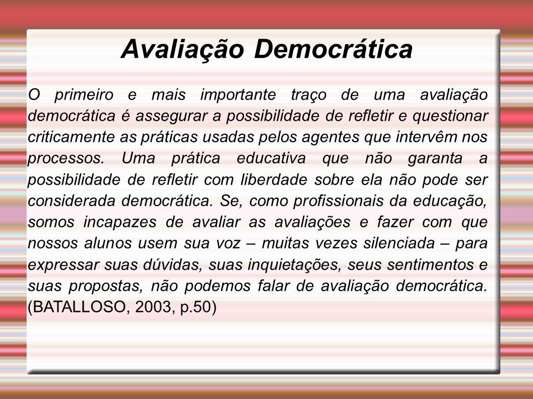Avaliação Democrática