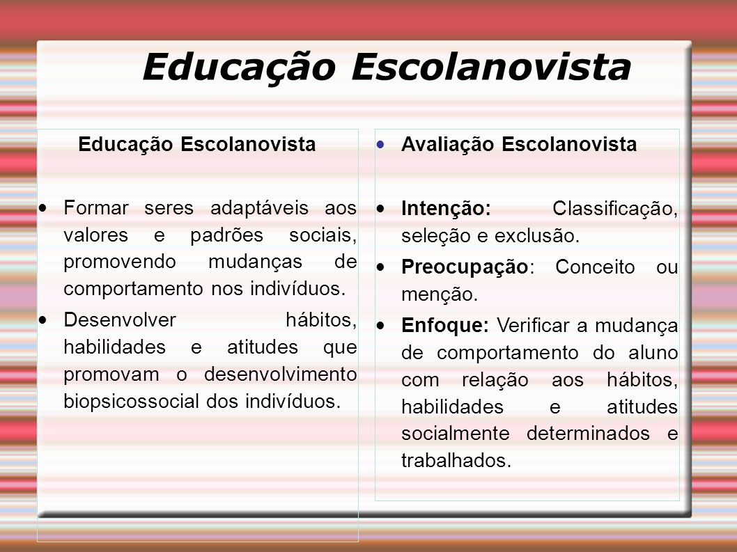Educação Escolanovista Educação Escolanovista