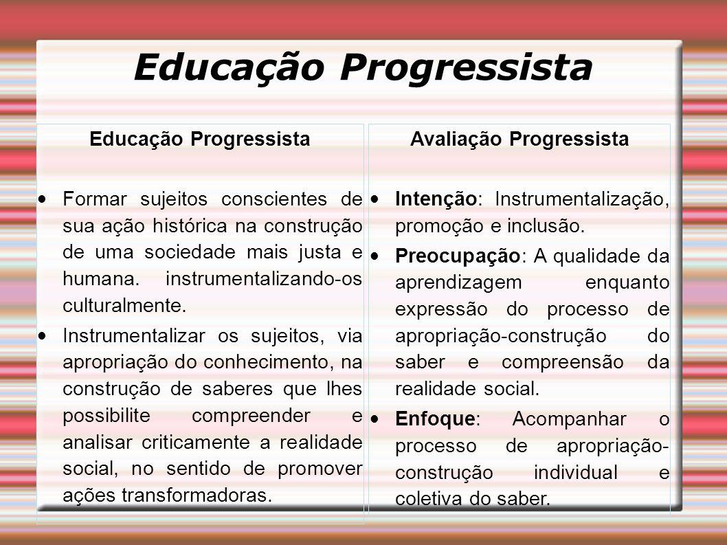 Educação Progressista Educação Progressista Avaliação Progressista