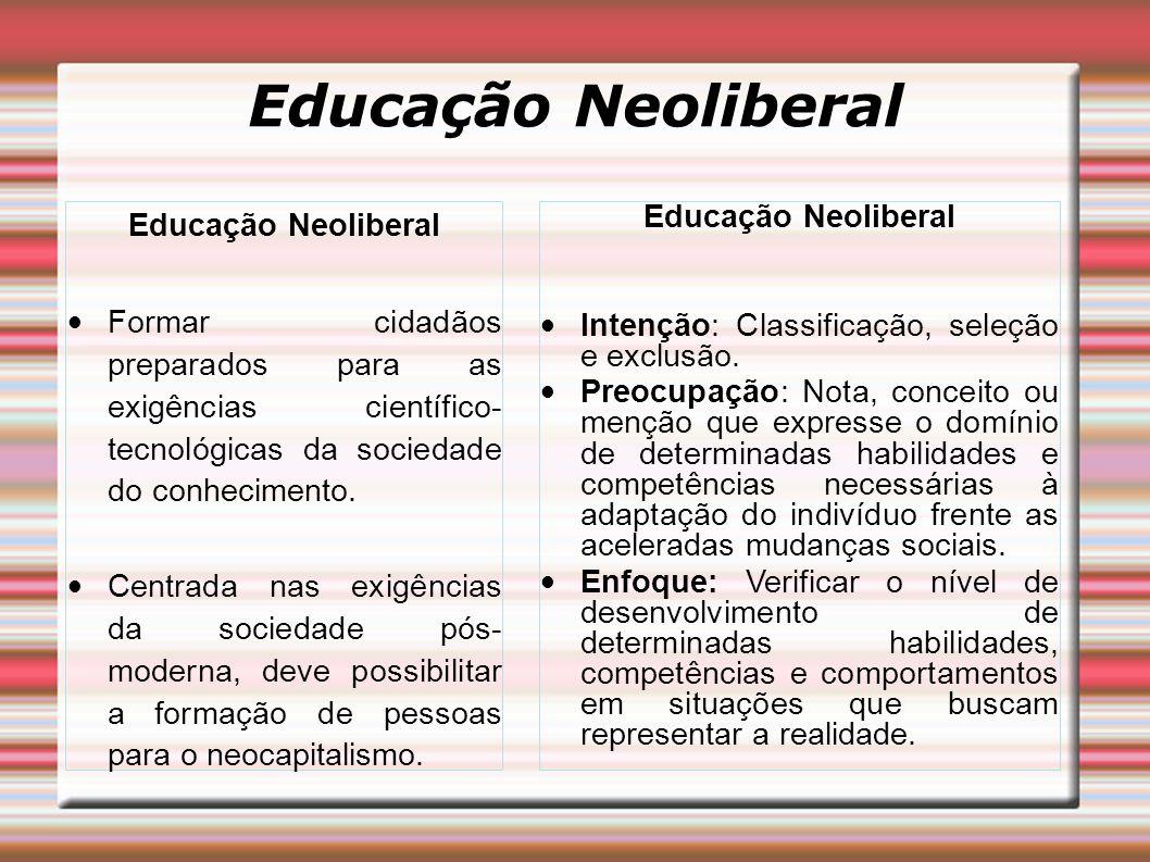 Educação Neoliberal Educação Neoliberal