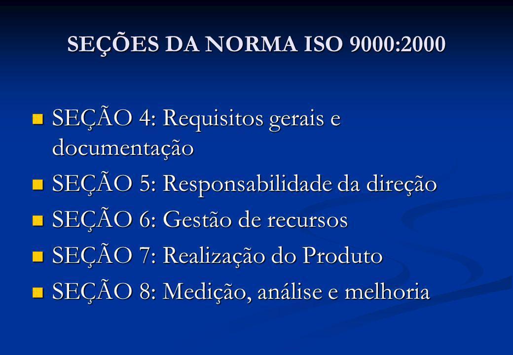 SEÇÃO 4: Requisitos gerais e documentação