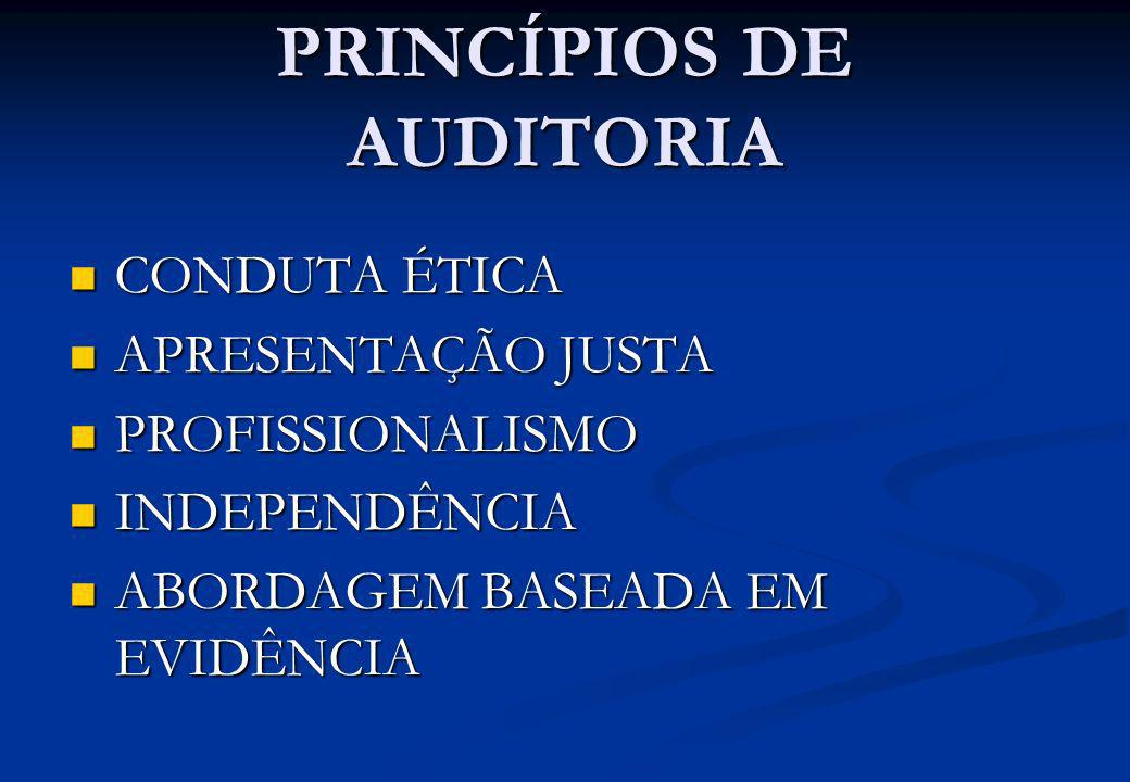 PRINCÍPIOS DE AUDITORIA