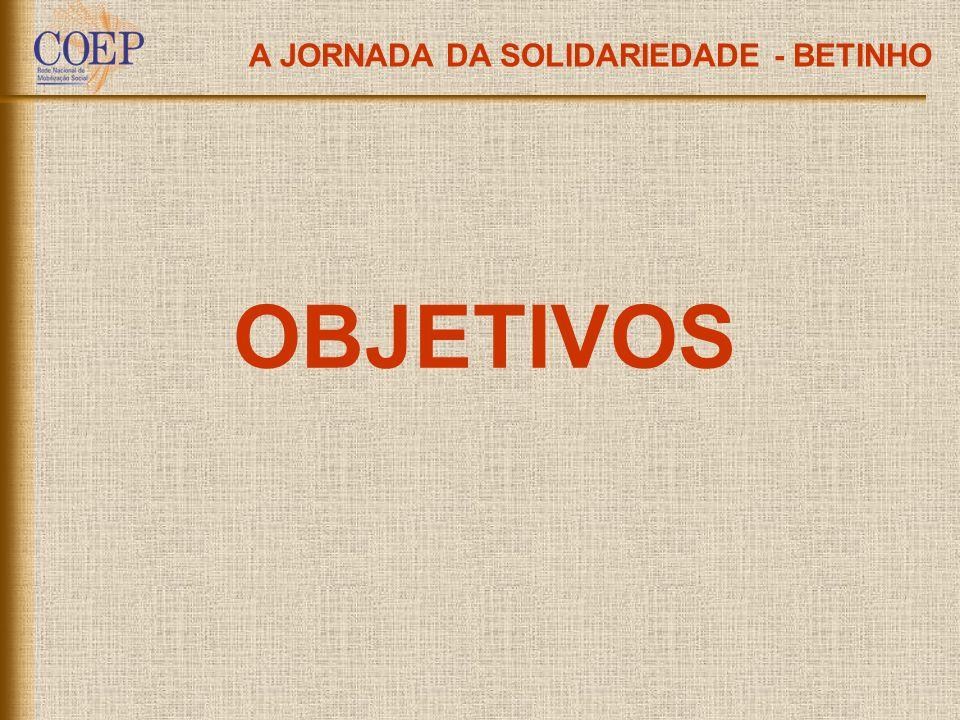 A JORNADA DA SOLIDARIEDADE - BETINHO