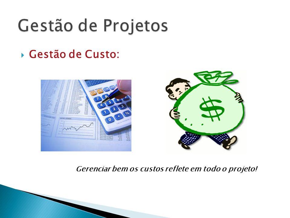 Gestão de Projetos Gestão de Custo: