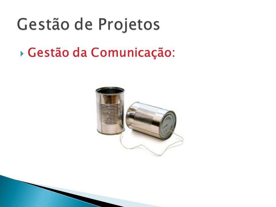 Gestão de Projetos Gestão da Comunicação:
