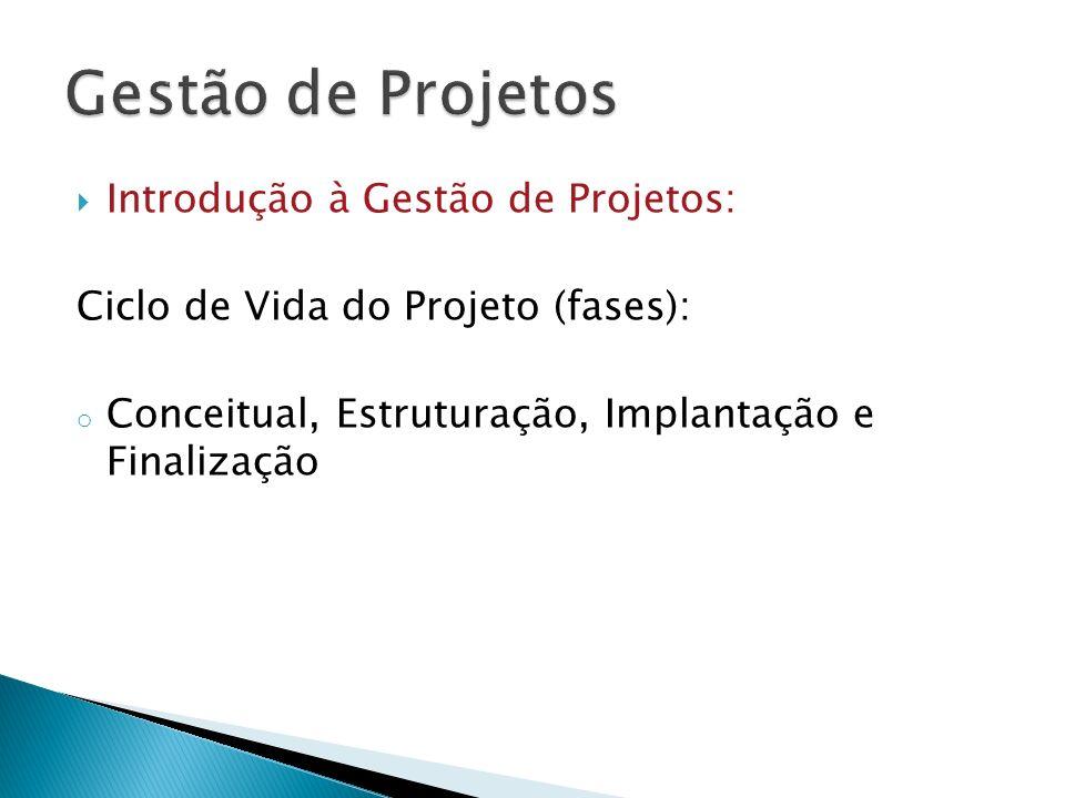 Gestão de Projetos Introdução à Gestão de Projetos: