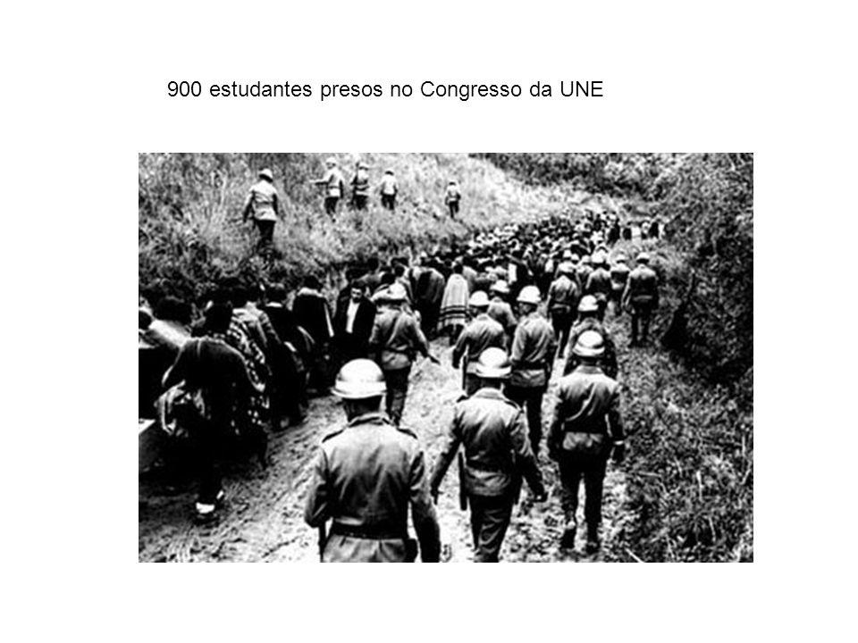 900 estudantes presos no Congresso da UNE
