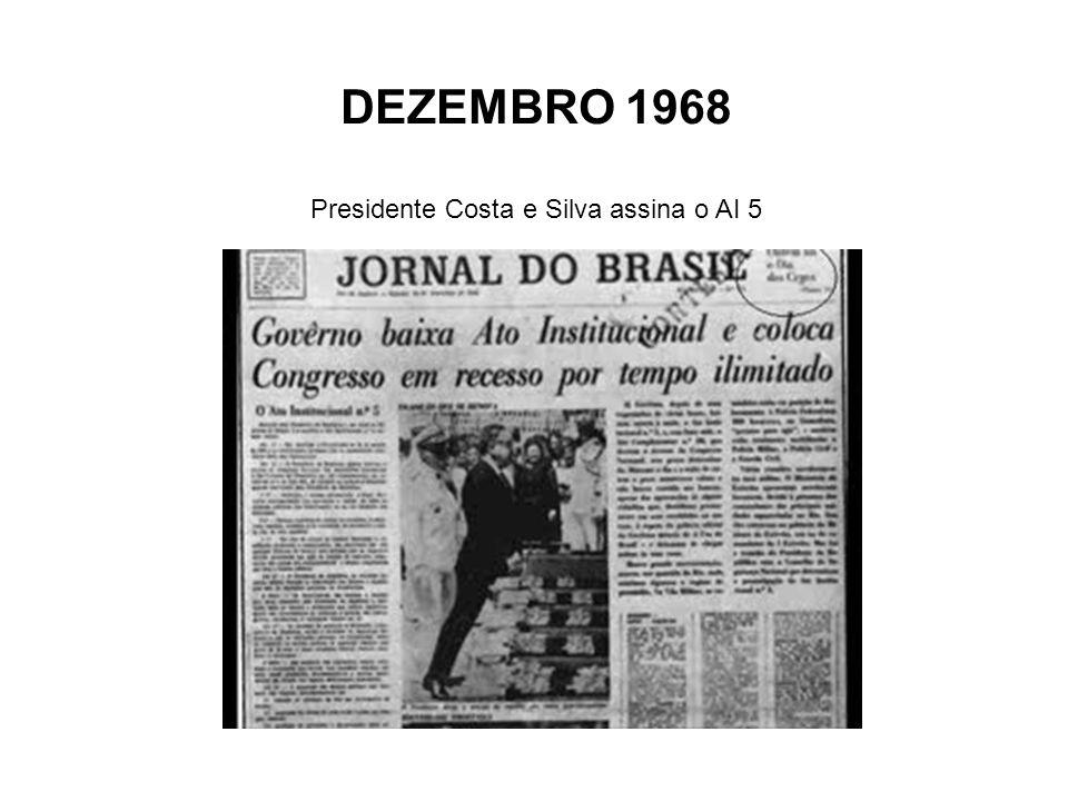 Presidente Costa e Silva assina o AI 5
