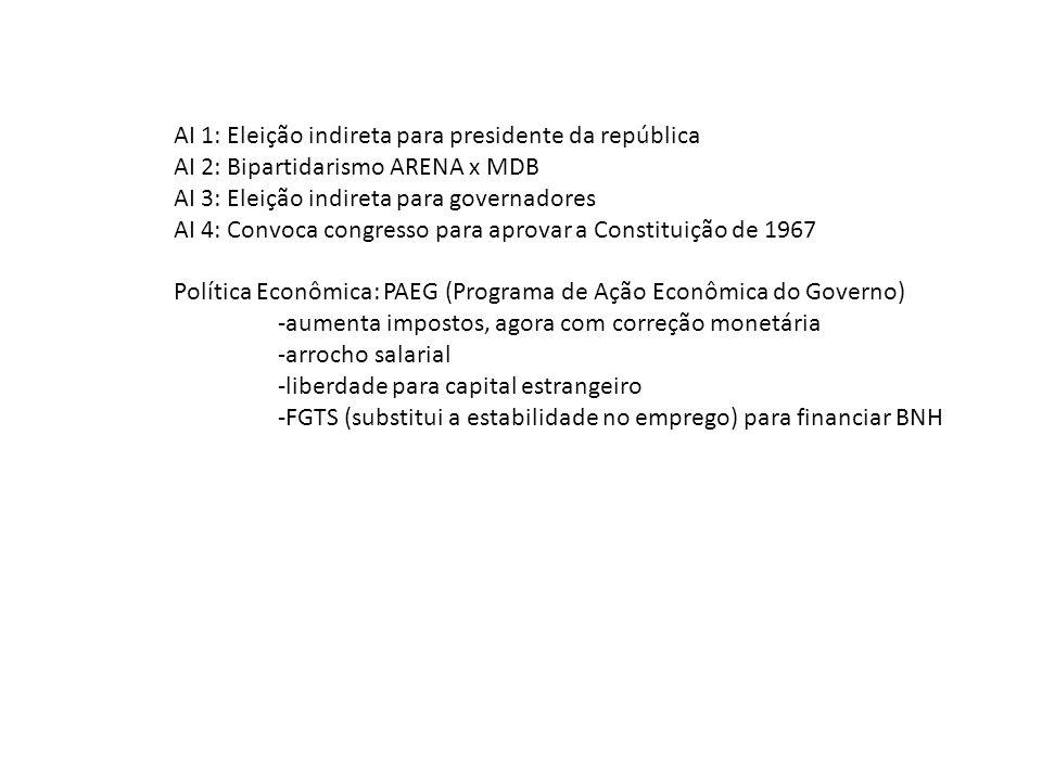 AI 1: Eleição indireta para presidente da república