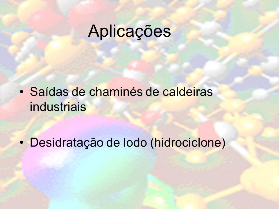 Aplicações Saídas de chaminés de caldeiras industriais