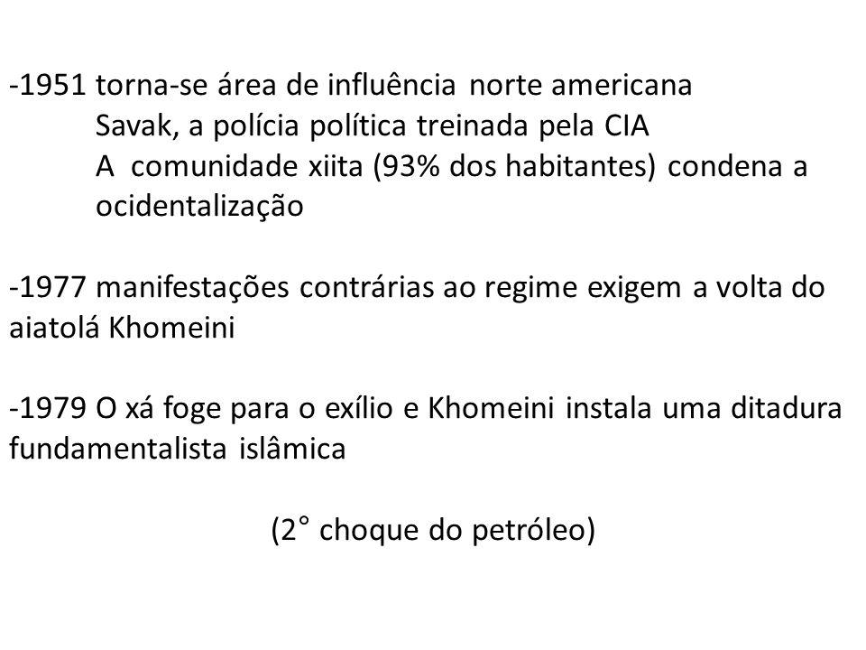-1951 torna-se área de influência norte americana