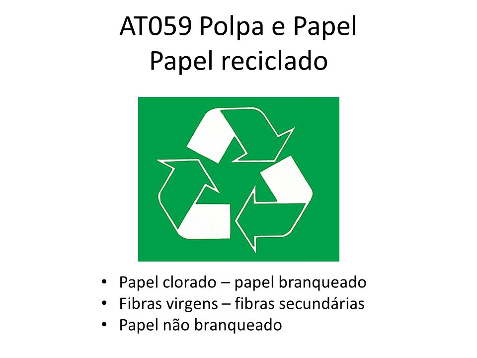 AT059 Polpa e Papel Papel reciclado