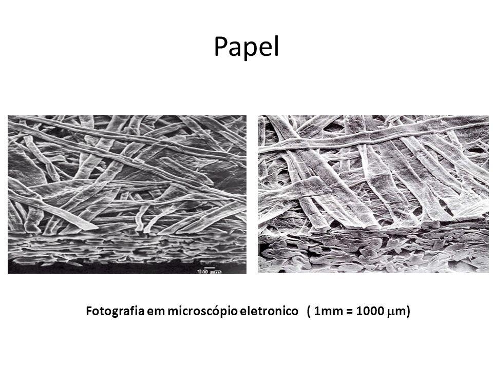 Papel Fotografia em microscópio eletronico ( 1mm = 1000 m)