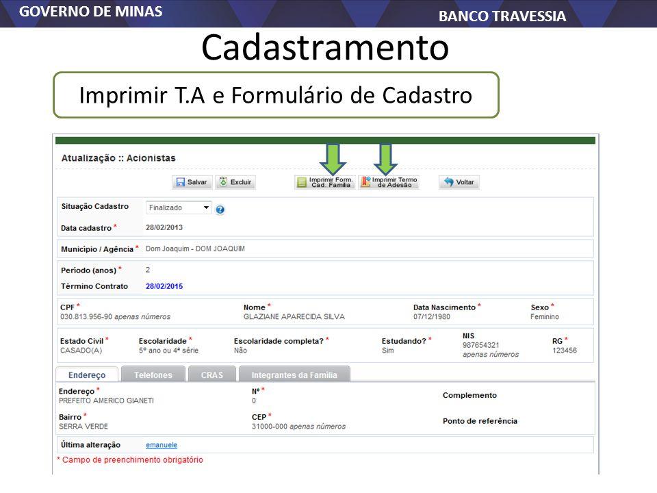 Imprimir T.A e Formulário de Cadastro