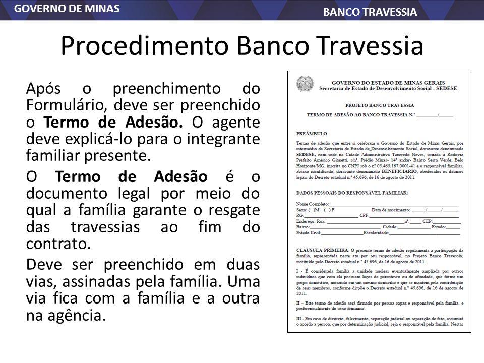 Procedimento Banco Travessia