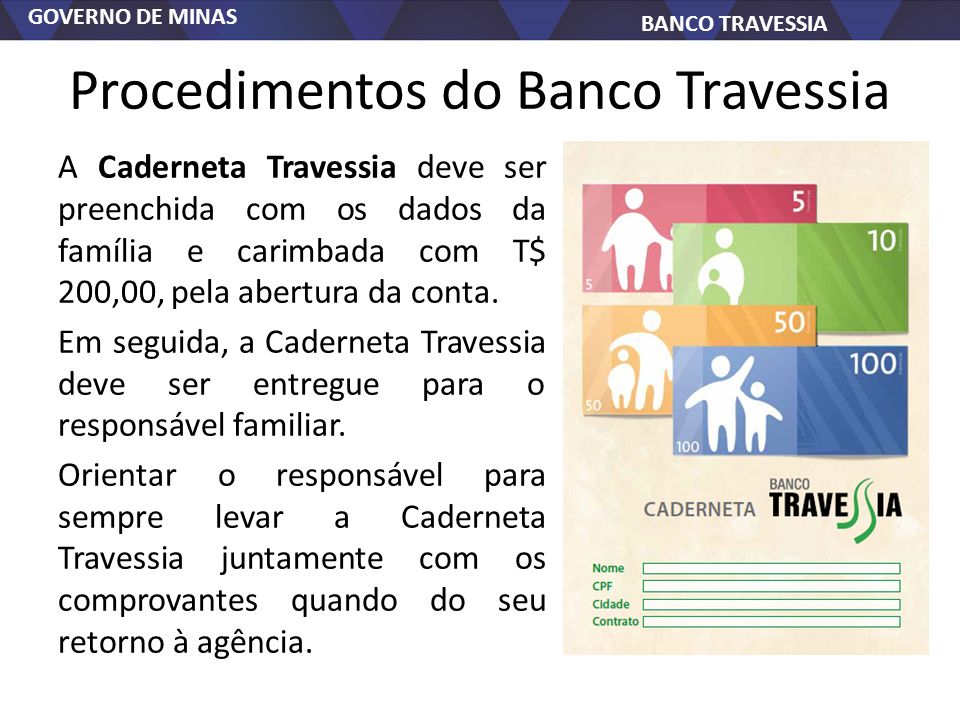 Procedimentos do Banco Travessia