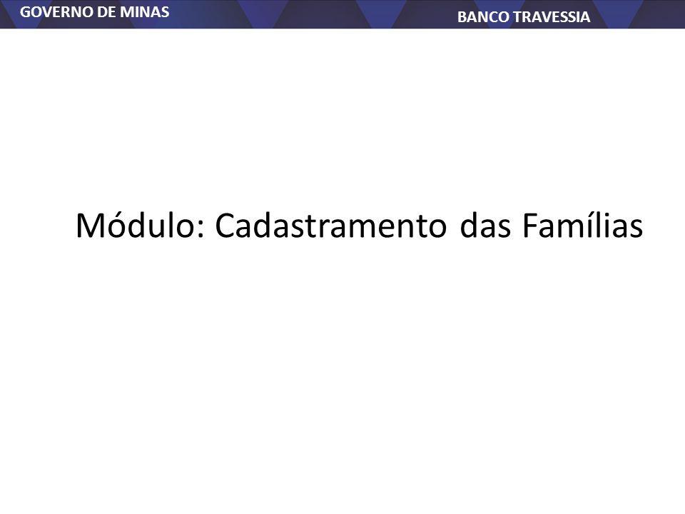 Módulo: Cadastramento das Famílias