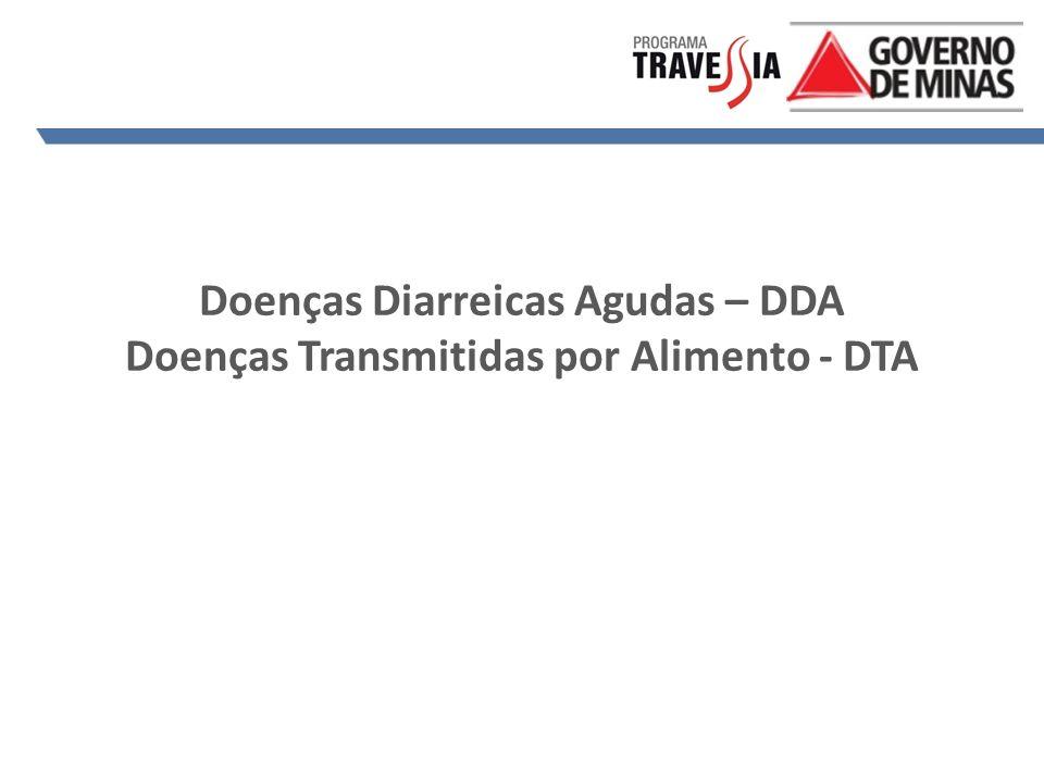 Doenças Diarreicas Agudas – DDA Doenças Transmitidas por Alimento - DTA