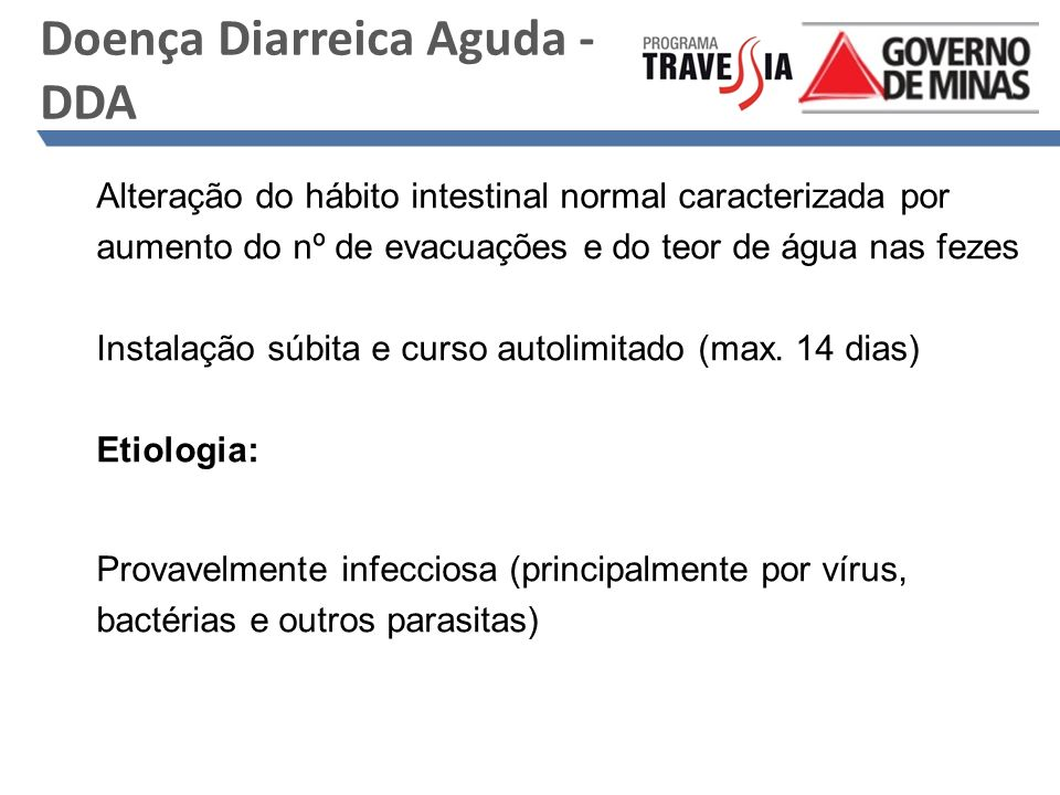 Doença Diarreica Aguda - DDA