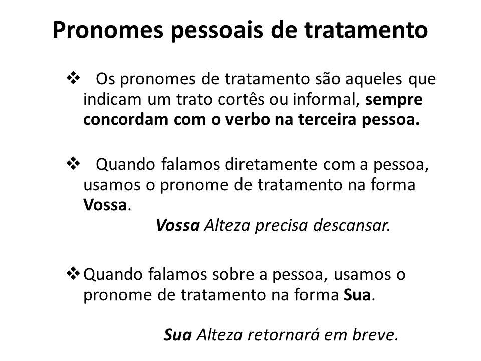 Pronomes pessoais de tratamento
