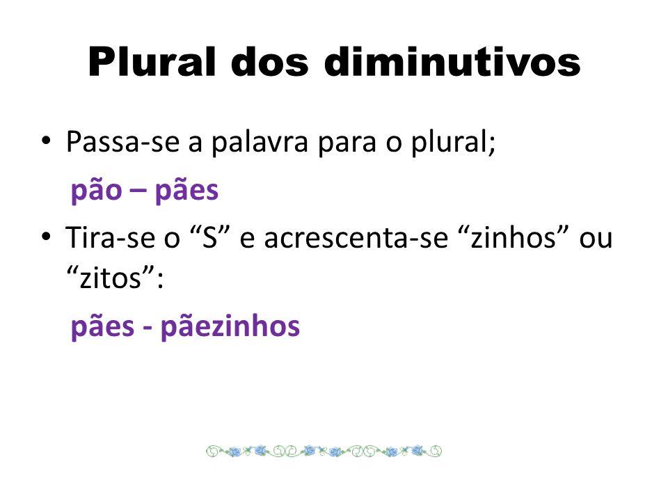 Plural dos diminutivos