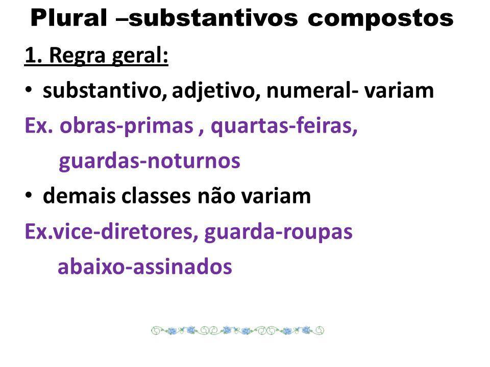 Plural –substantivos compostos