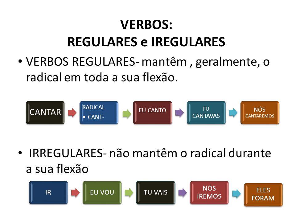 VERBOS: REGULARES e IREGULARES