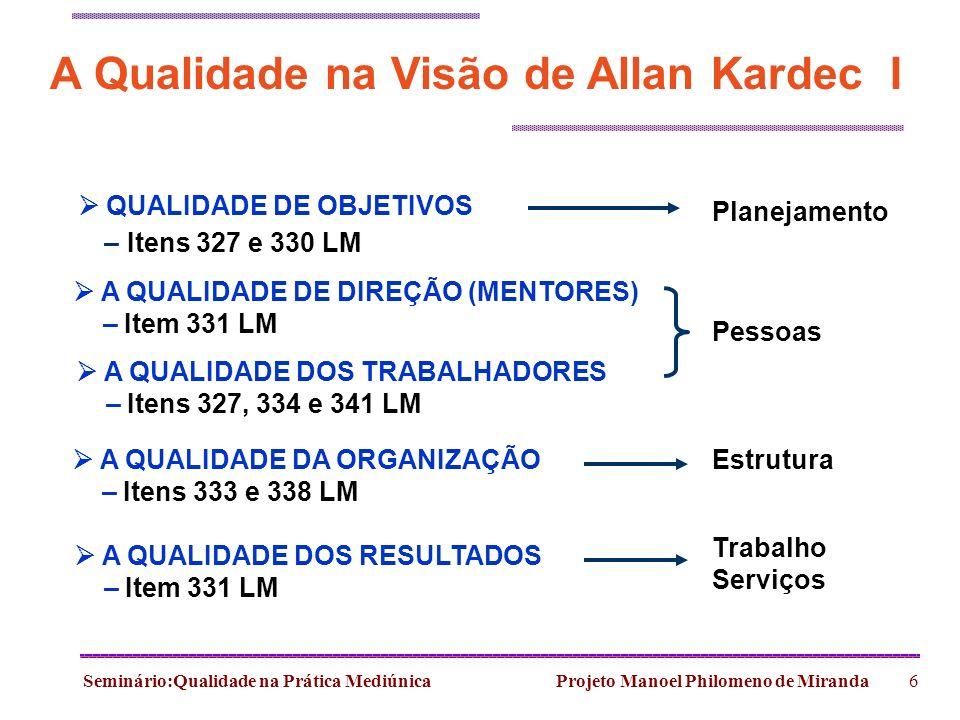 A Qualidade na Visão de Allan Kardec I