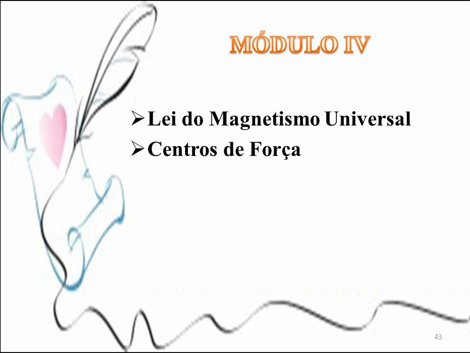 MÓDULO IV Lei do Magnetismo Universal Centros de Força