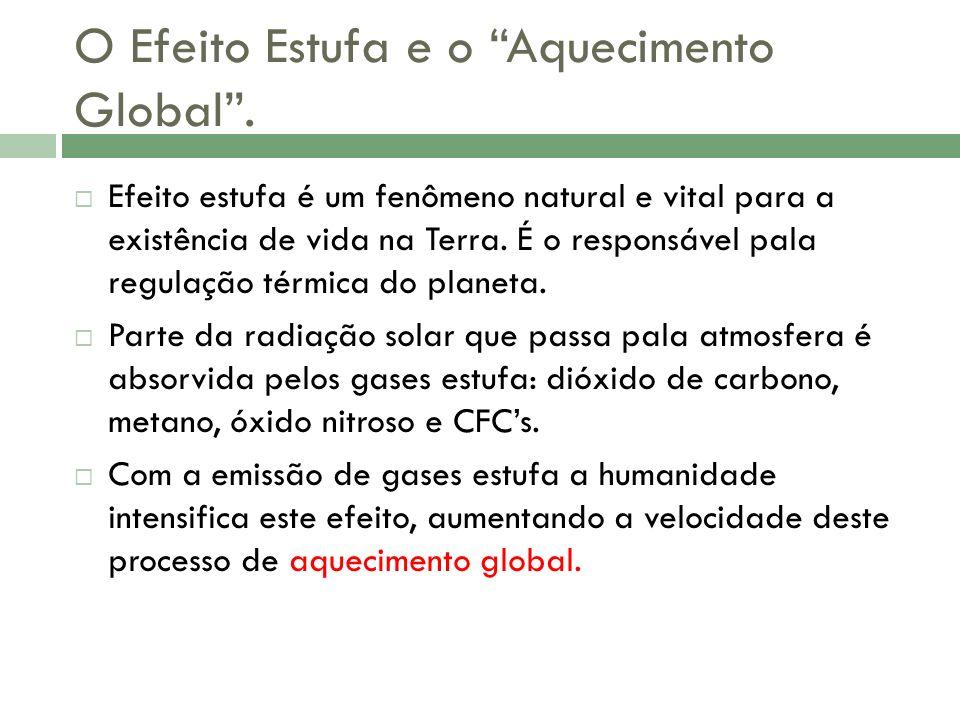 O Efeito Estufa e o Aquecimento Global .