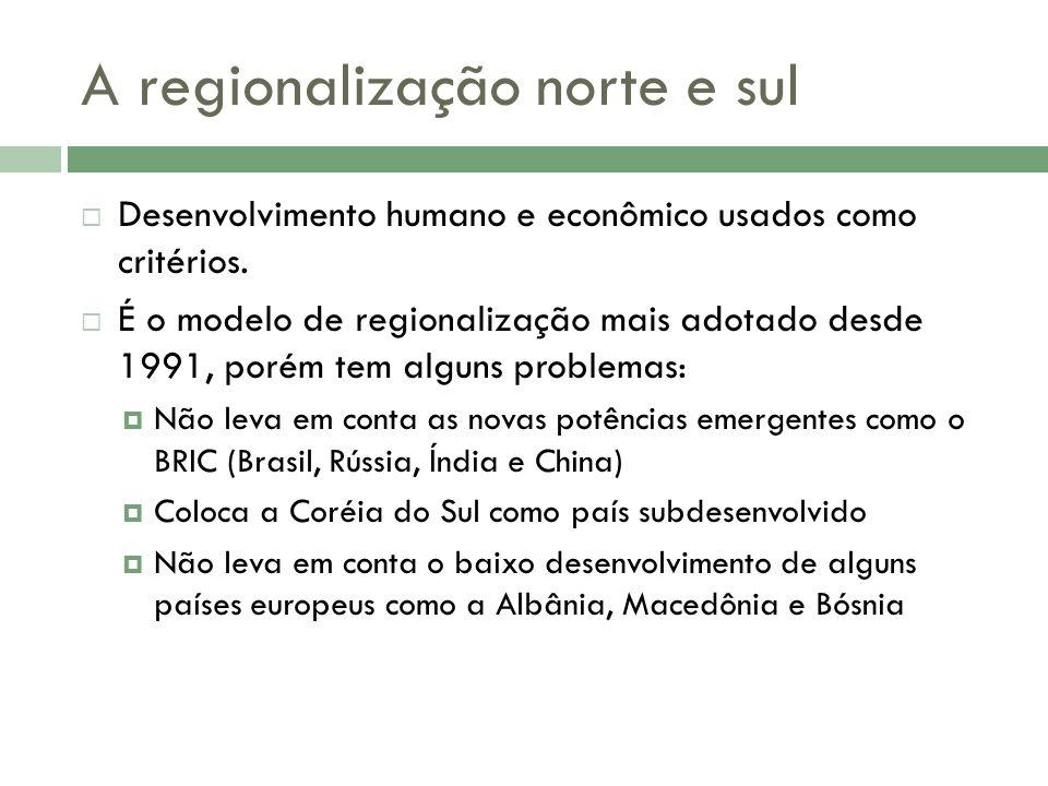 A regionalização norte e sul