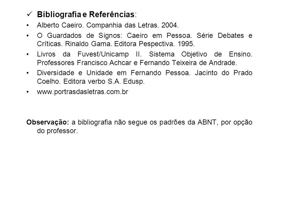 Bibliografia e Referências: