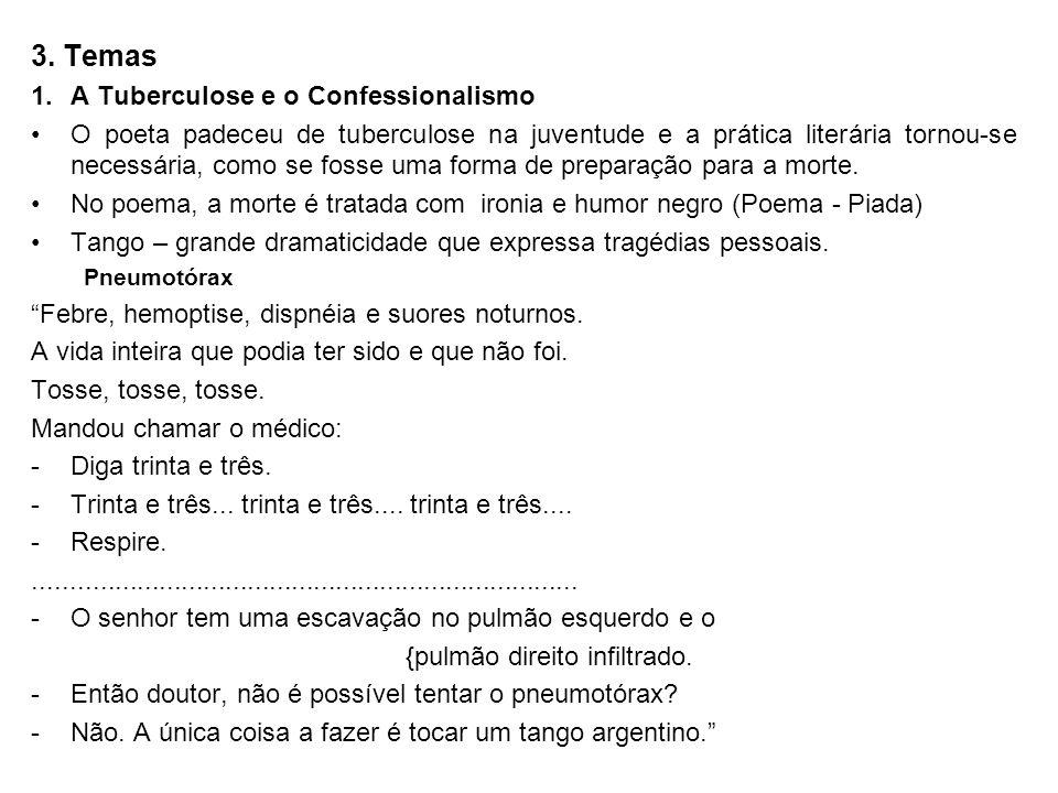 3. Temas 1. A Tuberculose e o Confessionalismo