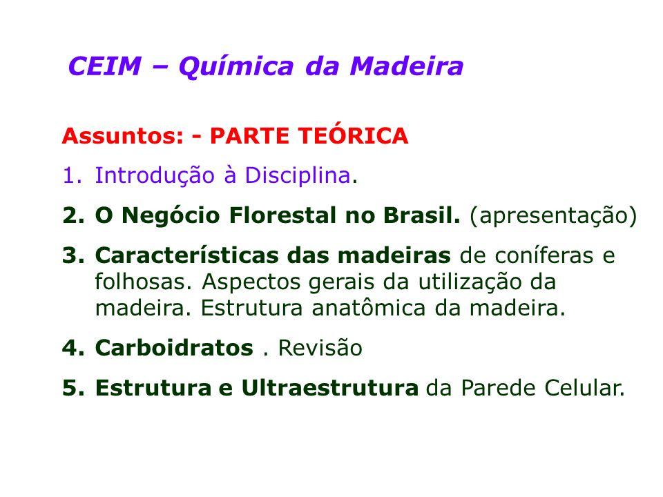 CEIM – Química da Madeira