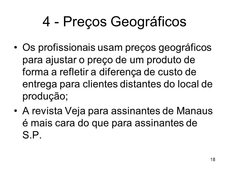 4 - Preços Geográficos