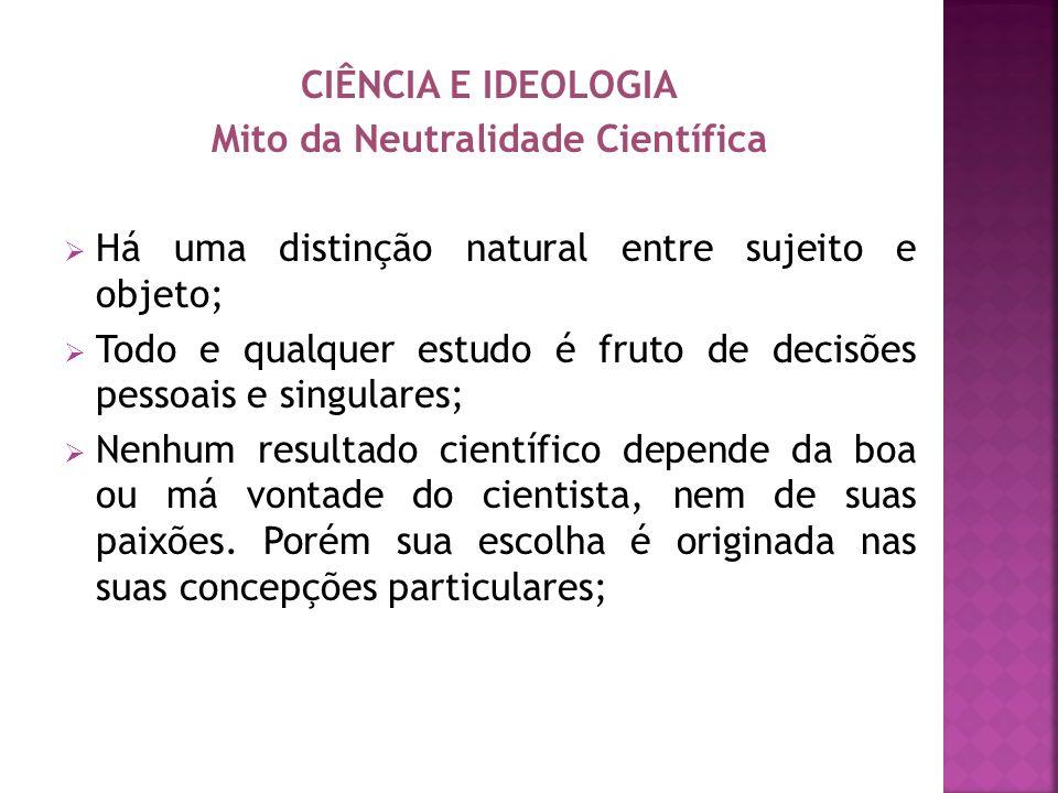 Mito da Neutralidade Científica